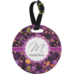 Halloween Round Luggage Tag (Personalized)