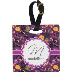 Halloween Square Luggage Tag (Personalized)