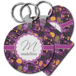 Halloween Plastic Keychains (Personalized)