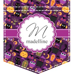 Halloween Iron On Faux Pocket (Personalized)