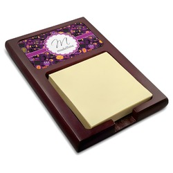 Halloween Red Mahogany Sticky Note Holder (Personalized)