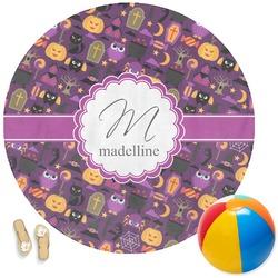 Halloween Round Beach Towel (Personalized)