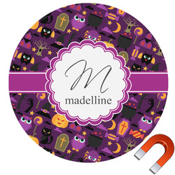 Halloween Round Car Magnet (Personalized)