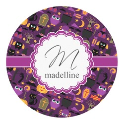 Halloween Round Decal (Personalized)
