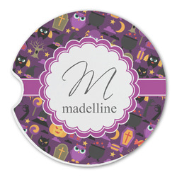 Halloween Sandstone Car Coasters (Personalized)