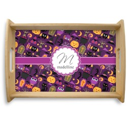 Halloween Natural Wooden Tray (Personalized)