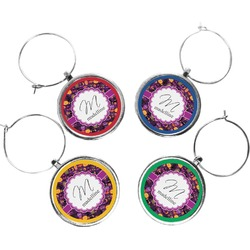 Halloween Wine Charms (Set of 4) (Personalized)