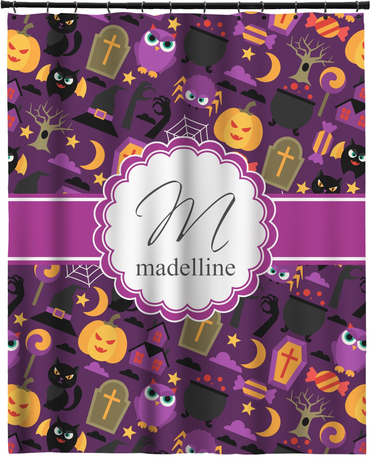 Halloween Extra Long Shower Curtain