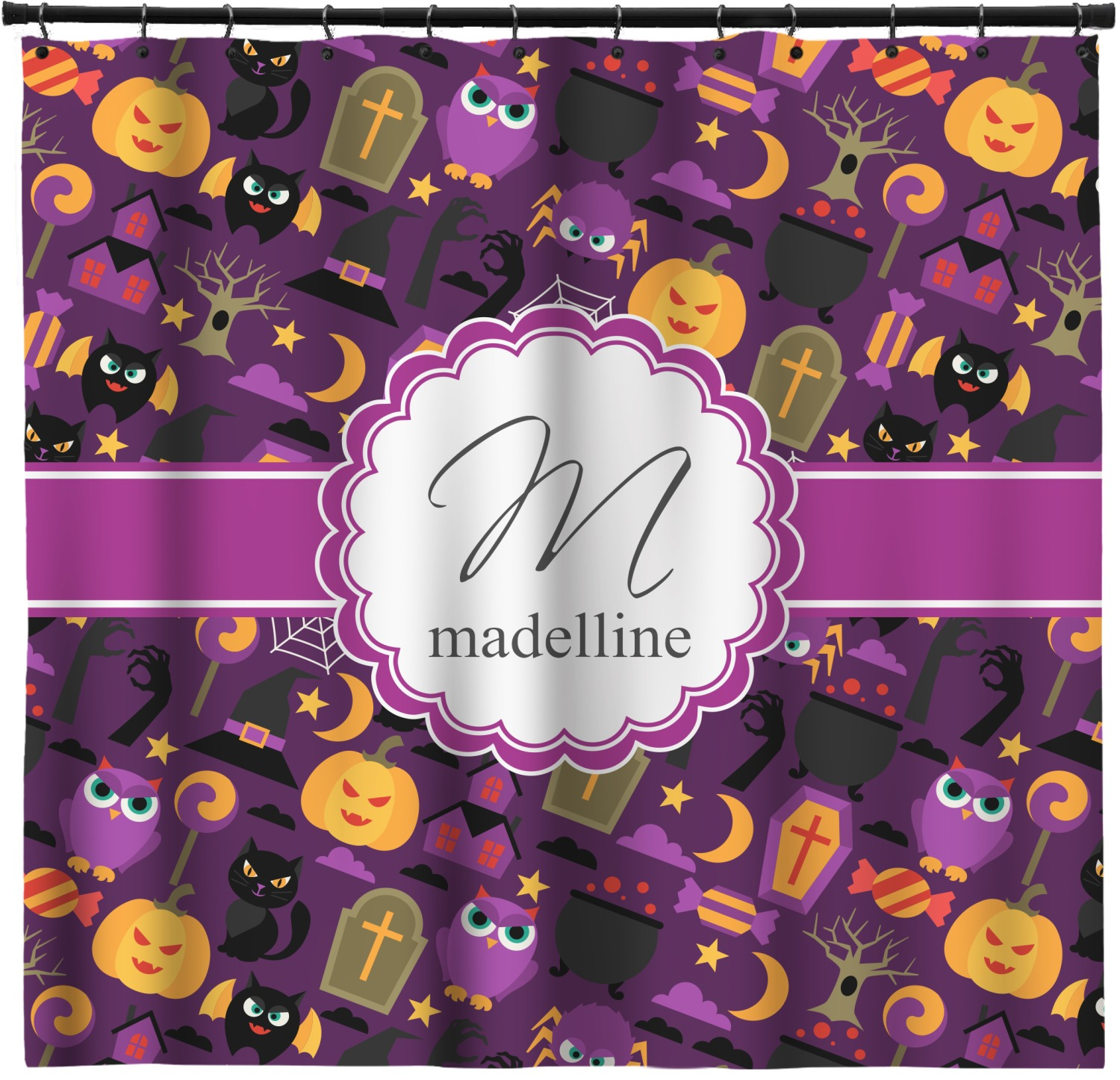 Halloween Shower Curtain Personalized