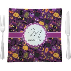 Halloween Glass Square Lunch / Dinner Plate 9.5