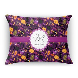 Halloween Rectangular Throw Pillow Case (Personalized)