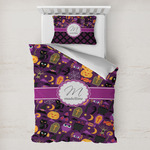 Halloween Toddler Bedding w/ Name and Initial