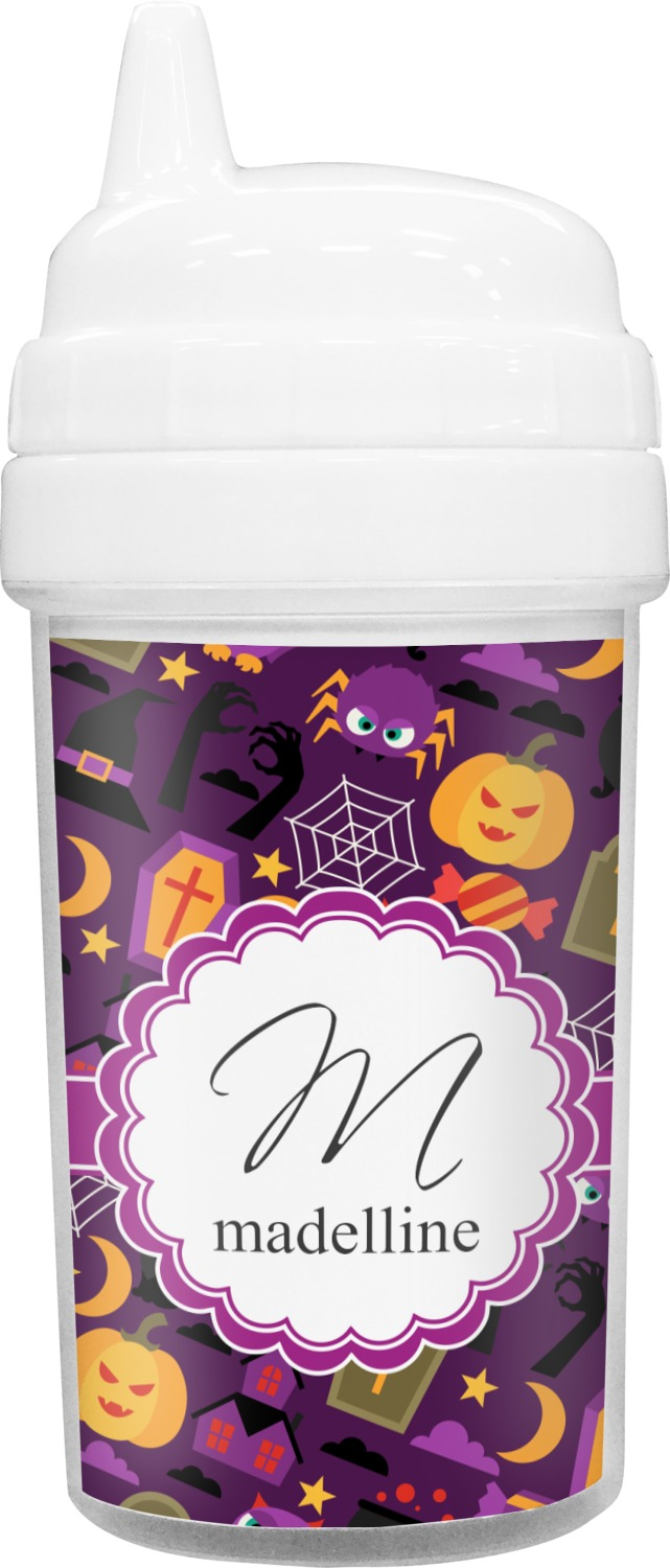 halloween toddler sippy cup personalized