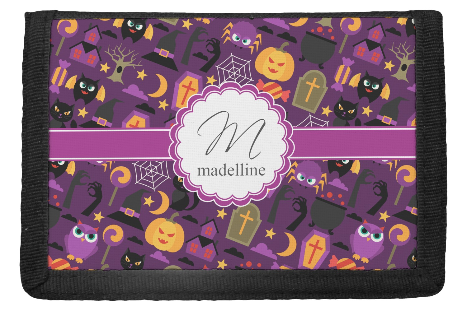 halloween trifold wallet personalized