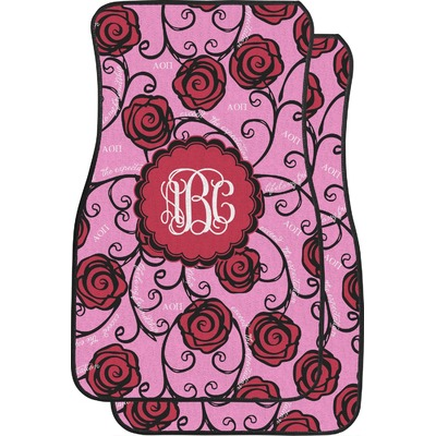 Alpha Omicron Pi Car Floor Mats (Front Seat) (Personalized)