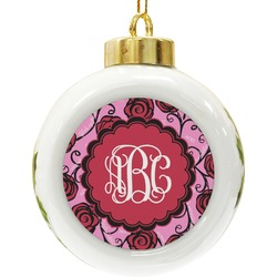 Alpha Omicron Pi Ceramic Ball Ornament (Personalized)