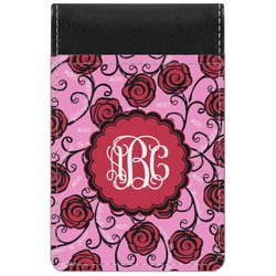 Alpha Omicron Pi Genuine Leather Small Memo Pad (Personalized)