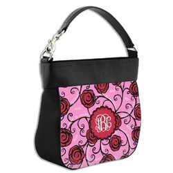 Alpha Omicron Pi Hobo Purse w/ Genuine Leather Trim (Personalized)