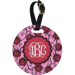 Alpha Omicron Pi Round Luggage Tag (Personalized)