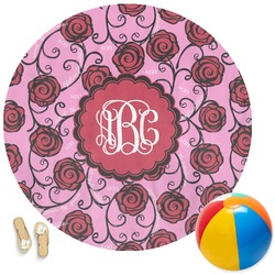 Alpha Omicron Pi Round Beach Towel (Personalized)