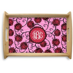 Alpha Omicron Pi Natural Wooden Tray (Personalized)