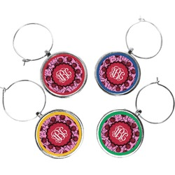 Alpha Omicron Pi Wine Charms (Set of 4) (Personalized)