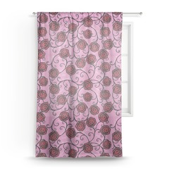 Alpha Omicron Pi Sheer Curtains (Personalized)