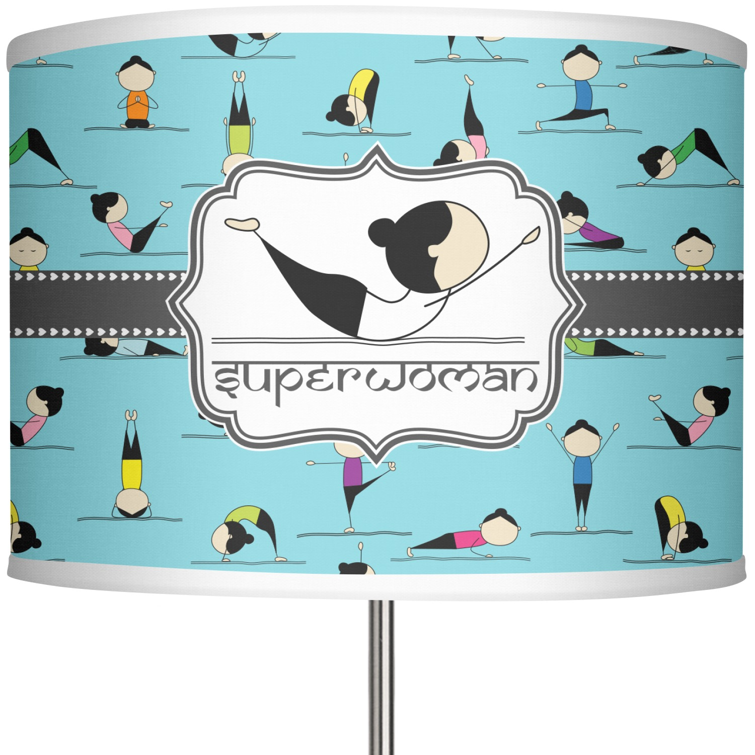 Yoga Poses 13 In Drum Lamp Shade Main