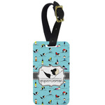 Yoga Poses Metal Luggage Tag w/ Name or Text