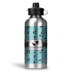 Yoga Poses Water Bottle - Aluminum - 20 oz (Personalized)