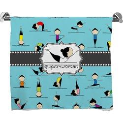 Yoga Poses Full Print Bath Towel (Personalized)