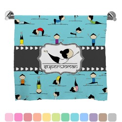 Yoga Poses Full Print Bath Towel (Personalized)