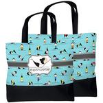 Yoga Poses Beach Tote Bag (Personalized)