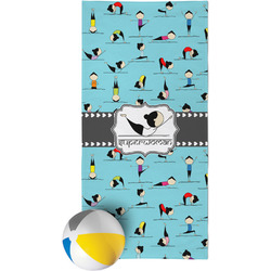 Yoga Poses Beach Towel (Personalized)
