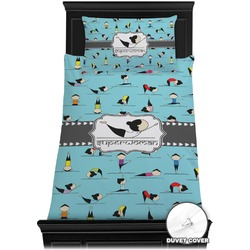 Yoga Poses Duvet Cover Set - Toddler (Personalized)