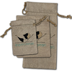 Yoga Poses Burlap Gift Bags (Personalized)