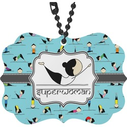 Yoga Poses Rear View Mirror Charm (Personalized)