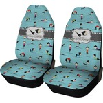 Yoga Poses Car Seat Covers (Set of Two) (Personalized)