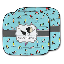 Yoga Poses Car Sun Shade - Two Piece (Personalized)