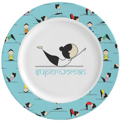 Yoga Poses Ceramic Dinner Plates (Set of 4) (Personalized)