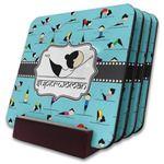 Yoga Poses Coaster Set w/ Stand (Personalized)