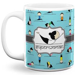 Yoga Poses 11 Oz Coffee Mug - White (Personalized)
