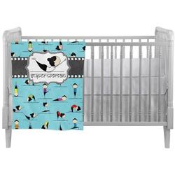 Yoga Poses Crib Comforter / Quilt (Personalized)