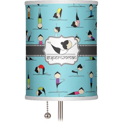 "Yoga Poses 7"" Drum Lamp Shade (Personalized)"
