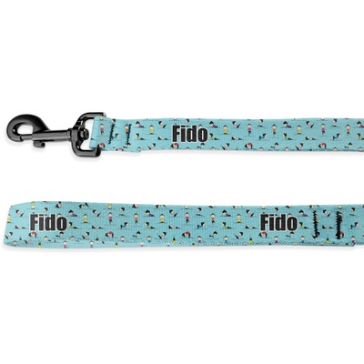 Yoga Poses Deluxe Dog Leash (Personalized)