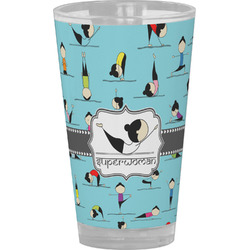 Yoga Poses Drinking / Pint Glass (Personalized)