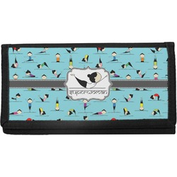 Yoga Poses Canvas Checkbook Cover (Personalized)