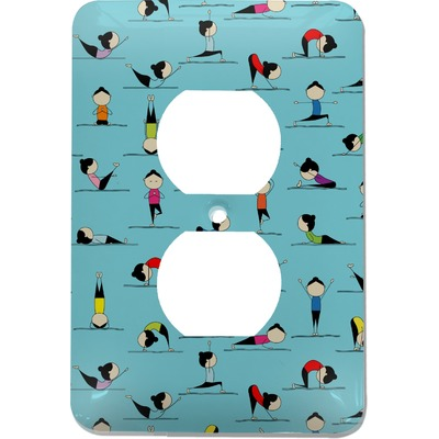 Yoga Poses Electric Outlet Plate (Personalized)