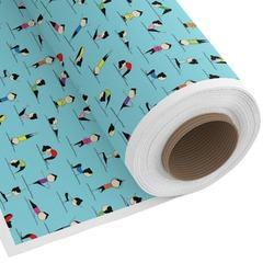Yoga Poses Custom Fabric - Spun Polyester Poplin (Personalized)