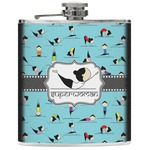 Yoga Poses Genuine Leather Flask (Personalized)